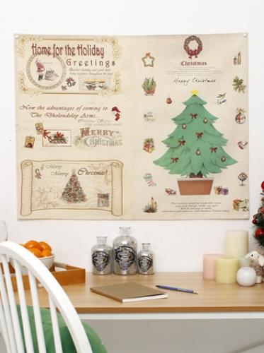 (크리스마스) 빈티지트리 [제작 대량 도매 로고 인쇄 레이저 마킹 각인 나염 실크 uv 포장 공장 문의는 네이뽕]