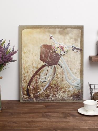 캔버스-꽃자전거(201) [제작 대량 도매 로고 인쇄 레이저 마킹 각인 나염 실크 uv 포장 공장 문의는 네이뽕]