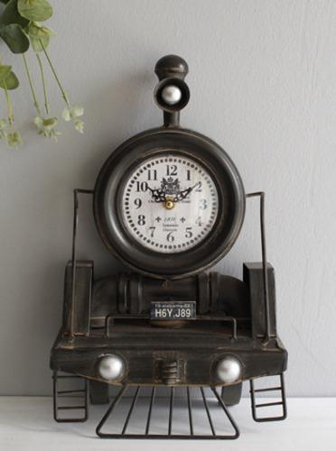 빈티지 기차 탁상시계 (0073) [제작 대량 도매 로고 인쇄 레이저 마킹 각인 나염 실크 uv 포장 공장 문의는 네이뽕]