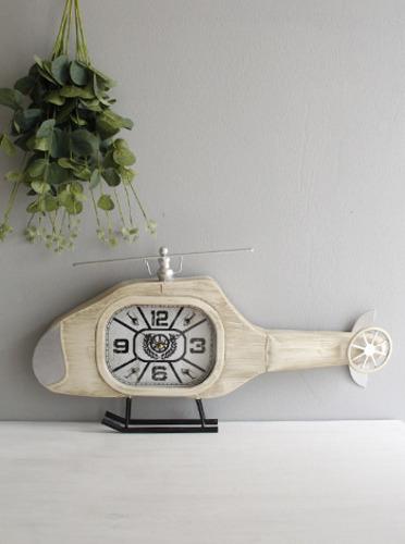빈티지 헬리곱터 탁상시계 (0091) [제작 대량 도매 로고 인쇄 레이저 마킹 각인 나염 실크 uv 포장 공장 문의는 네이뽕]