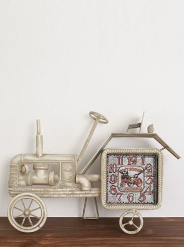 빈티지카 탁상시계-화이트 (0088) [제작 대량 도매 로고 인쇄 레이저 마킹 각인 나염 실크 uv 포장 공장 문의는 네이뽕]