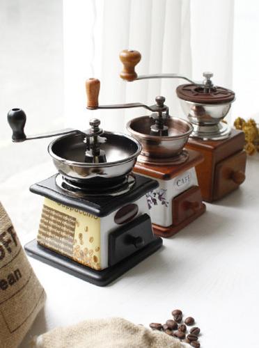 카페 커피 글라인더 -3type [제작 대량 도매 로고 인쇄 레이저 마킹 각인 나염 실크 uv 포장 공장 문의는 네이뽕]