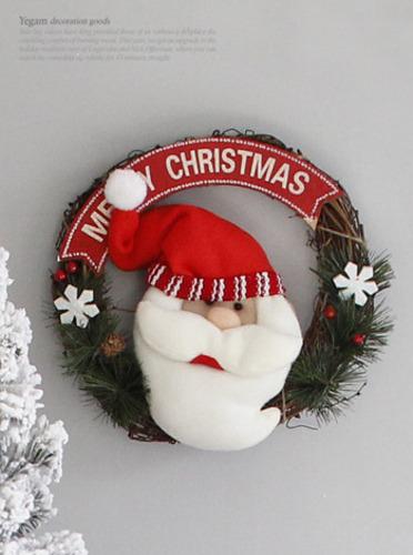 크리스마스 산타 리스(149) [제작 대량 도매 로고 인쇄 레이저 마킹 각인 나염 실크 uv 포장 공장 문의는 네이뽕]