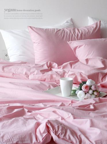 (60수고밀도바이오워싱) 모던 침구세트-핑크 [제작 대량 도매 로고 인쇄 레이저 마킹 각인 나염 실크 uv 포장 공장 문의는 네이뽕]