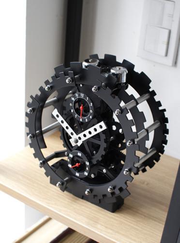 블랙태엽 탁상시계 (G040) [제작 대량 도매 로고 인쇄 레이저 마킹 각인 나염 실크 uv 포장 공장 문의는 네이뽕]
