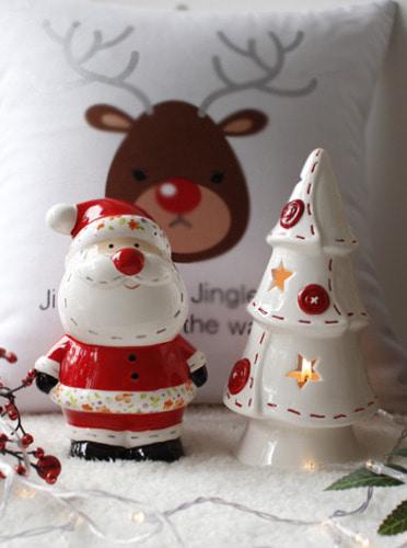 아렌델 산타 트리촛대 세트 [제작 대량 도매 로고 인쇄 레이저 마킹 각인 나염 실크 uv 포장 공장 문의는 네이뽕]