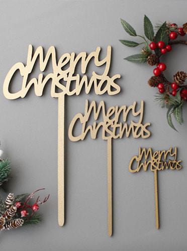 크리스마스 픽 - 3size [제작 대량 도매 로고 인쇄 레이저 마킹 각인 나염 실크 uv 포장 공장 문의는 네이뽕]