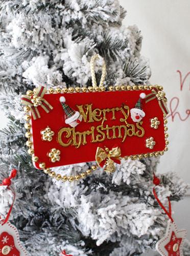 크리스마스 레드 팻말 [제작 대량 도매 로고 인쇄 레이저 마킹 각인 나염 실크 uv 포장 공장 문의는 네이뽕]
