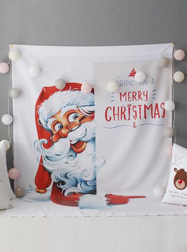 크리스마스 산타 벽장식 [제작 대량 도매 로고 인쇄 레이저 마킹 각인 나염 실크 uv 포장 공장 문의는 네이뽕]