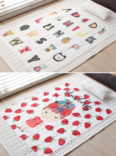 큐티 아이스 인견 이불 (80x105) - 16 type [제작 대량 도매 로고 인쇄 레이저 마킹 각인 나염 실크 uv 포장 공장 문의는 네이뽕]