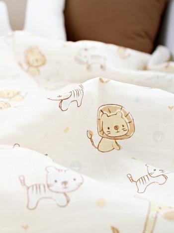 동물농장 이중거즈 아기이불 (2color) [제작 대량 도매 로고 인쇄 레이저 마킹 각인 나염 실크 uv 포장 공장 문의는 네이뽕]
