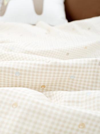 큐티새싹 이중거즈 아기이불 (2color) [제작 대량 도매 로고 인쇄 레이저 마킹 각인 나염 실크 uv 포장 공장 문의는 네이뽕]