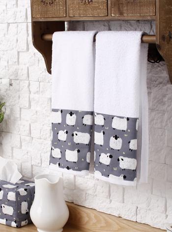 그레이양 욕실수건2P [제작 대량 도매 로고 인쇄 레이저 마킹 각인 나염 실크 uv 포장 공장 문의는 네이뽕]