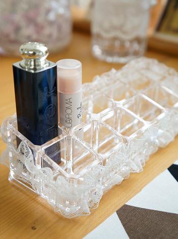 레이스 직사각 립스틱홀더 [제작 대량 도매 로고 인쇄 레이저 마킹 각인 나염 실크 uv 포장 공장 문의는 네이뽕]