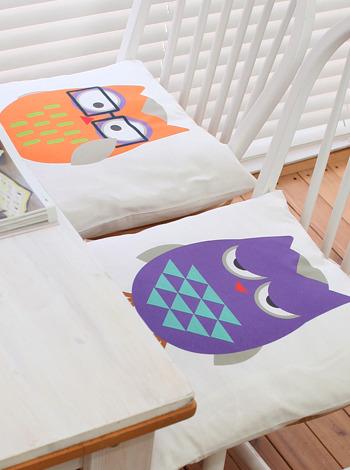 부엉이 방석 (슬리피,스마트(2size)) [제작 대량 도매 로고 인쇄 레이저 마킹 각인 나염 실크 uv 포장 공장 문의는 네이뽕]